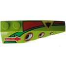LEGO Wedge 2 x 6 Double Right with Air Intakte, Yellow Triangle, Red Arrow (41747)