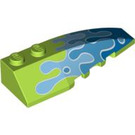 LEGO Wedge 2 x 6 Double Right with Water Splash Decoration (88207)