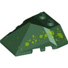 LEGO Wedge 4 x 4 Quadruple Convex Slope Center with Green Dots (47757 / 58801)