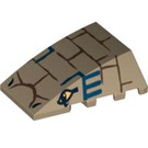 LEGO Wedge 4 x 4 Triple Curved without Studs with Bricks, Blue Lines, 2 Eyes (47753 / 94304)