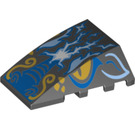 LEGO Wedge 4 x 4 Triple Curved without Studs with Dragon Head, Yellow Eyes (24974 / 47753)