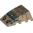 LEGO Wedge 4 x 4 Triple Curved without Studs with Pharaoh Eyes & Brickwork Decoration (47753 / 94314)
