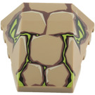 LEGO Wedge 4 x 4 Triple Curved without Studs with Venomari Eyes and Scales (47753 / 70052)