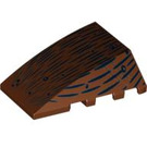 LEGO Wedge 4 x 4 Triple Curved without Studs with Wood Grain (47753 / 92934)