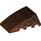 LEGO Wedge 4 x 4 Triple Curved without Studs with Wood Grain (92934)