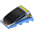 LEGO Wedge 4 x 4 Triple Curved without Studs with Yellow '18' & Stripes Decoration (47753)