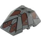 LEGO Wedge 4 x 4 Triple with Decoration with Stud Notches (96543)