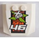 LEGO Wedge 4 x 4 x 0.66 Curved with 46 Sticker