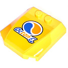 LEGO Wedge 4 x 4 x 0.66 Curved with Octan E Sticker (45677)