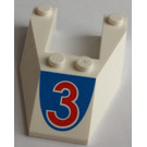 """LEGO Wedge 6 x 4 Cutout with """"3"""" without Stud Notches (6153)"""
