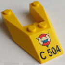 LEGO Wedge 6 x 4 Cutout with Decoration without Stud Notches (6153)