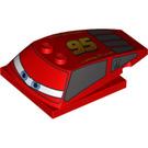 LEGO Wedge 6 x 4 x 1.333 with 4 x 4 Base with '95', narrow Blue Eyes (93591 / 95977)