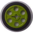 LEGO Wedge Belt Wheel with Black Wedge Belt Tire (2786)