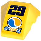 LEGO Wedge Curved 3 x 4 Triple with 29 Octan E Sticker (64225)