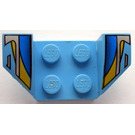LEGO Wheel Arch 2 x 4 with Blue, Yellow  (41854)