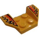 LEGO Wheel Arch 2 x 4 with Flames (41854)