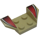 LEGO Wheel Arch 2 x 4 with White and Red Stripes (41854)