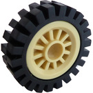 LEGO Wheel Centre Spoked Small with Narrow Tire 24 x 7 with Ridges Inside (30155)