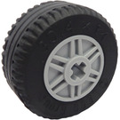 LEGO Wheel Rim Ø18 x 14 with Axle Hole with Tire Ø30.4 x 14 (Thick Rubber) (55982)