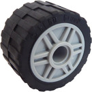 LEGO Wheel Rim Ø18 x 14 with Pin Hole with Tire 24 x 14 Shallow Tread (Tread Small Hub) without Band around Center of Tread (55981)