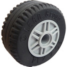 LEGO Wheel Rim Ø18 x 14 with Pin Hole with Tire Ø30.4 x 14 (Thick Rubber) (55981)