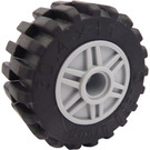 LEGO Wheel Rim Ø18 x 14 with Pin Hole with Tire 30.4 x 14 with Offset Tread Pattern and No band (55981)