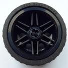 LEGO Wheel Rim Ø30 x 20 with No Pinholes, with Reinforced Rim with Tire Low Wide Ø37 X 22 (56145)
