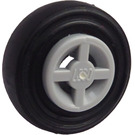 LEGO Wheel Rim Ø8 x 6.4 without Side Notch with Tire Ø 14mm x 4mm Smooth Old Style (75609)