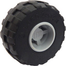LEGO Wheel Rim Wide Ø11 x 12 with Notched Hole with Balloon Tire Ø24 x 12 (6014)