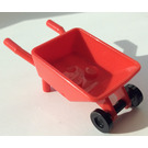 LEGO Wheelbarrow with Black Trolley Wheels