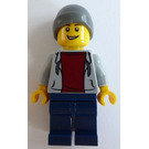 LEGO Wheelchair Minifigure with Hoodie and Dark Red Shirt