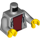 LEGO Wheelchair Minifigure with Hoodie and Dark Red Shirt Minifig Torso (973 / 76382)