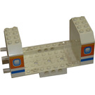 LEGO White Aircraft Fuselage with Two Windows