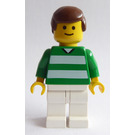 LEGO White and Green Team Player with Number 10 on Back Minifigure