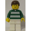 LEGO White and Green Team Player with Number 2 on Back Minifigure