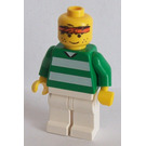 LEGO White and Green Team Player with Number 3 on Back Minifigure