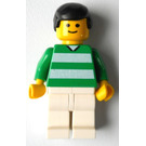 LEGO White and Green Team Player with Number 7 on Back Minifigure