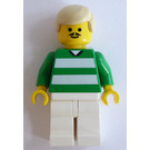 LEGO White and Green Team Player with Number 9 on Back Minifigure