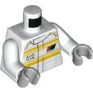 LEGO White Audi Team Driver Minifig Torso (76382)
