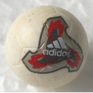LEGO White Ball with Adidas Logo and Red and Black Pattern