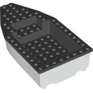 LEGO White Boat 8 x 16 x 3 with Black Top (28925)