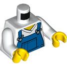 LEGO White Boy in Blue Overalls Minifig Torso (76382)