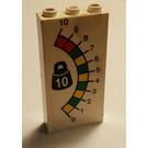 LEGO White Brick 1 x 3 x 5 with Weight Scale Display Sticker
