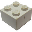LEGO White Brick 2 x 2 (Earlier, without Cross Supports)