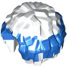 LEGO White Cheerleader Pom Pom with Blue Top (15099 / 88046)