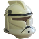 LEGO White Clone Trooper Helmet from Episode 2 with Gray and Black Markings