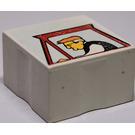 LEGO White Duplo Tile 2 x 2 with Farming Mosaic Print 08