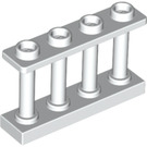 LEGO White Fence Spindled 1 x 4 x 2 with 4 Top Studs (15332)