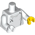 LEGO White Fencer Minifig Torso (88585)