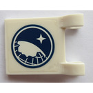 LEGO White Flag 2 x 2 with Arctic Explorer Logo on both sides Sticker